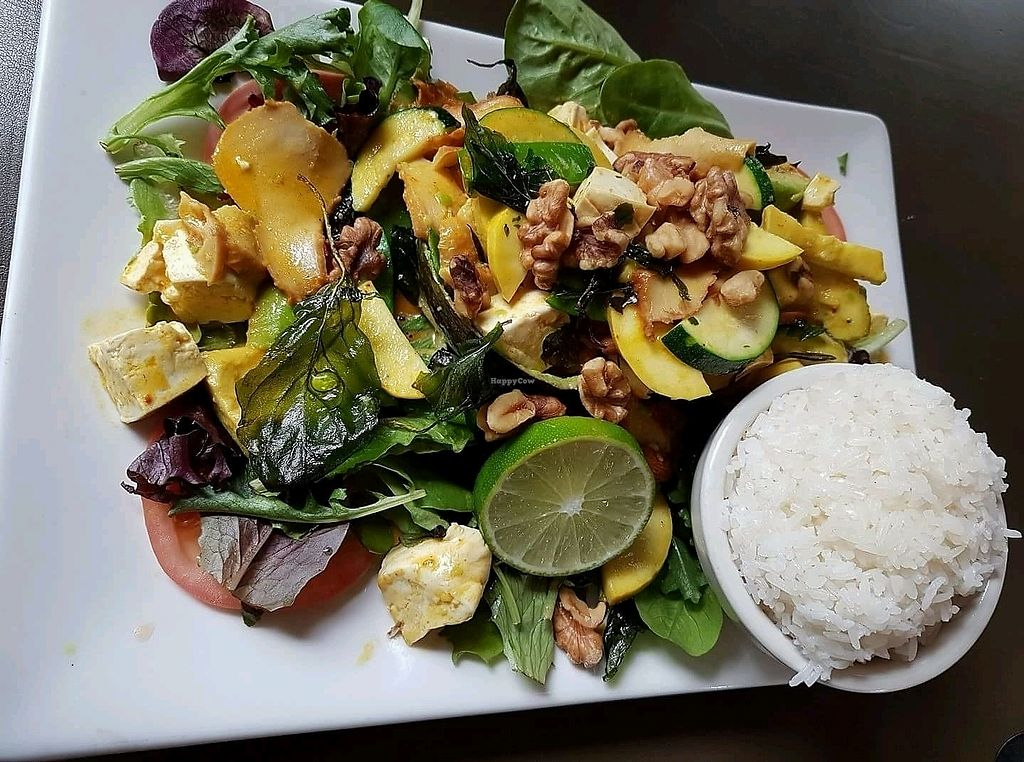"""Photo of My Thai Vegan Cafe  by <a href=""""/members/profile/Mellow2bee"""">Mellow2bee</a> <br/>great portions <br/> March 14, 2018  - <a href='/contact/abuse/image/4965/370576'>Report</a>"""