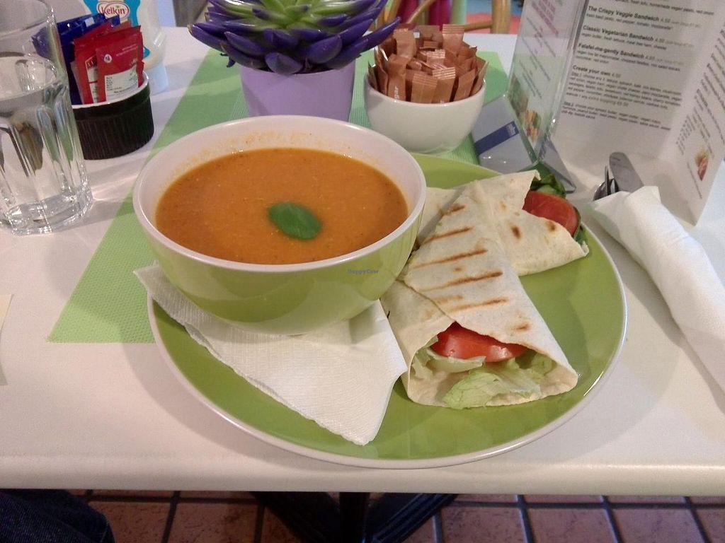 "Photo of CLOSED: Bubble Tea Paradise Healthy Cafe  by <a href=""/members/profile/Ryecatcher"">Ryecatcher</a> <br/>Red lentil soup + wrap <br/> March 26, 2015  - <a href='/contact/abuse/image/50008/97063'>Report</a>"