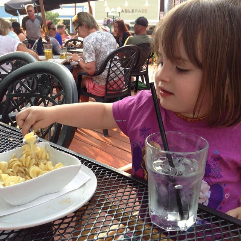 """Photo of Village Idiot  by <a href=""""/members/profile/Jazter851"""">Jazter851</a> <br/>my daughter enjoying some pasta on the patio <br/> August 6, 2014  - <a href='/contact/abuse/image/50014/76202'>Report</a>"""