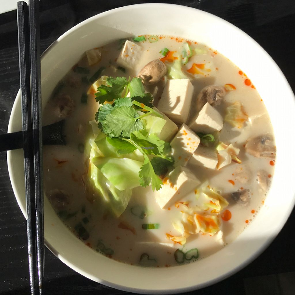"Photo of Vida's Thai Food  by <a href=""/members/profile/Sarah%20P"">Sarah P</a> <br/>Tom Kha noodle soup with tofu <br/> March 5, 2017  - <a href='/contact/abuse/image/50021/233116'>Report</a>"