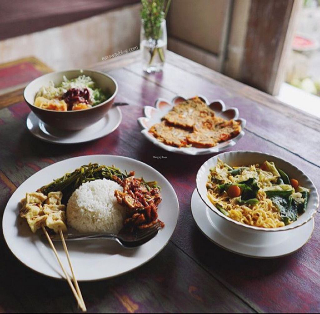 """Photo of Nine Heaven Vegan Warung  by <a href=""""/members/profile/Eat%20Away"""">Eat Away</a> <br/>our vegan dish <br/> October 5, 2015  - <a href='/contact/abuse/image/50049/120267'>Report</a>"""