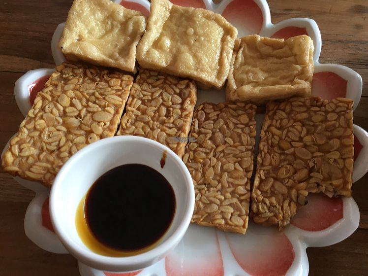 """Photo of Nine Heaven Vegan Warung  by <a href=""""/members/profile/rtiago"""">rtiago</a> <br/>tempeh <br/> October 20, 2016  - <a href='/contact/abuse/image/50049/183147'>Report</a>"""