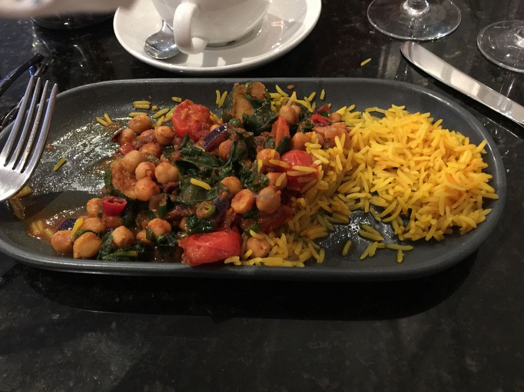 """Photo of REMOVED: The Swan Stafford Restaurant  by <a href=""""/members/profile/Harharikaur123"""">Harharikaur123</a> <br/>my improvised vegan meal - totally delicious and nutritious  <br/> December 29, 2015  - <a href='/contact/abuse/image/50051/130196'>Report</a>"""