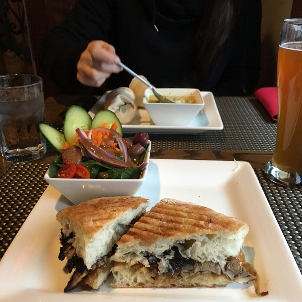 """Photo of Misto Cafe  by <a href=""""/members/profile/Tofuwulf"""">Tofuwulf</a> <br/>portobello sandwich and side salad   <br/> November 22, 2015  - <a href='/contact/abuse/image/50054/125868'>Report</a>"""