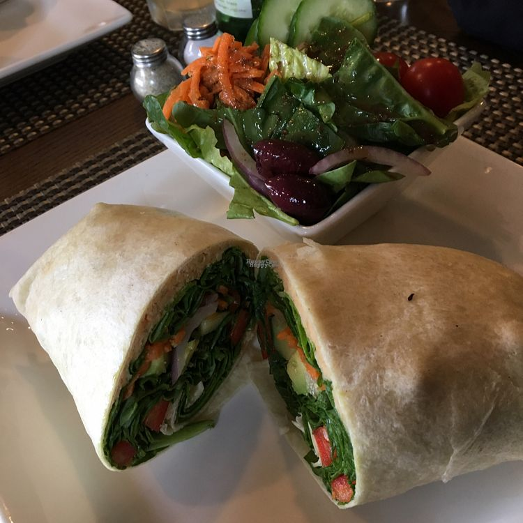 """Photo of Misto Cafe  by <a href=""""/members/profile/LalaDubbs"""">LalaDubbs</a> <br/>Mediterranean wrap with Misto salad <br/> September 18, 2016  - <a href='/contact/abuse/image/50054/176570'>Report</a>"""