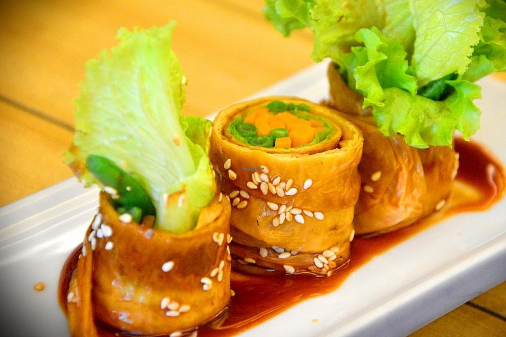 "Photo of Veggiezen Health Vegetarian Restaurant  by <a href=""/members/profile/konserns"">konserns</a> <br/>Beancurd roll <br/> February 11, 2015  - <a href='/contact/abuse/image/50084/92796'>Report</a>"