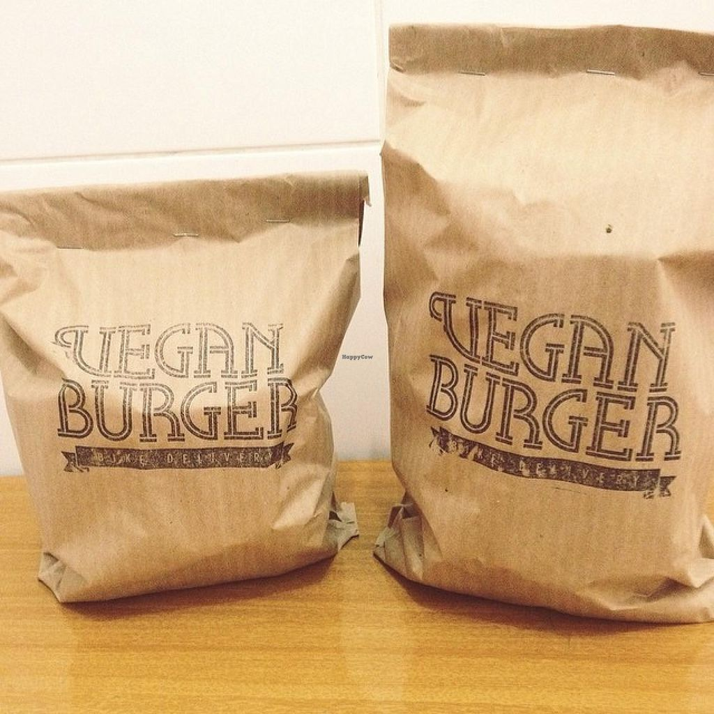 """Photo of Vegan Burger - Bike Delivery  by <a href=""""/members/profile/community"""">community</a> <br/>Vegan Burger - Bike Delivery <br/> August 13, 2014  - <a href='/contact/abuse/image/50096/76839'>Report</a>"""