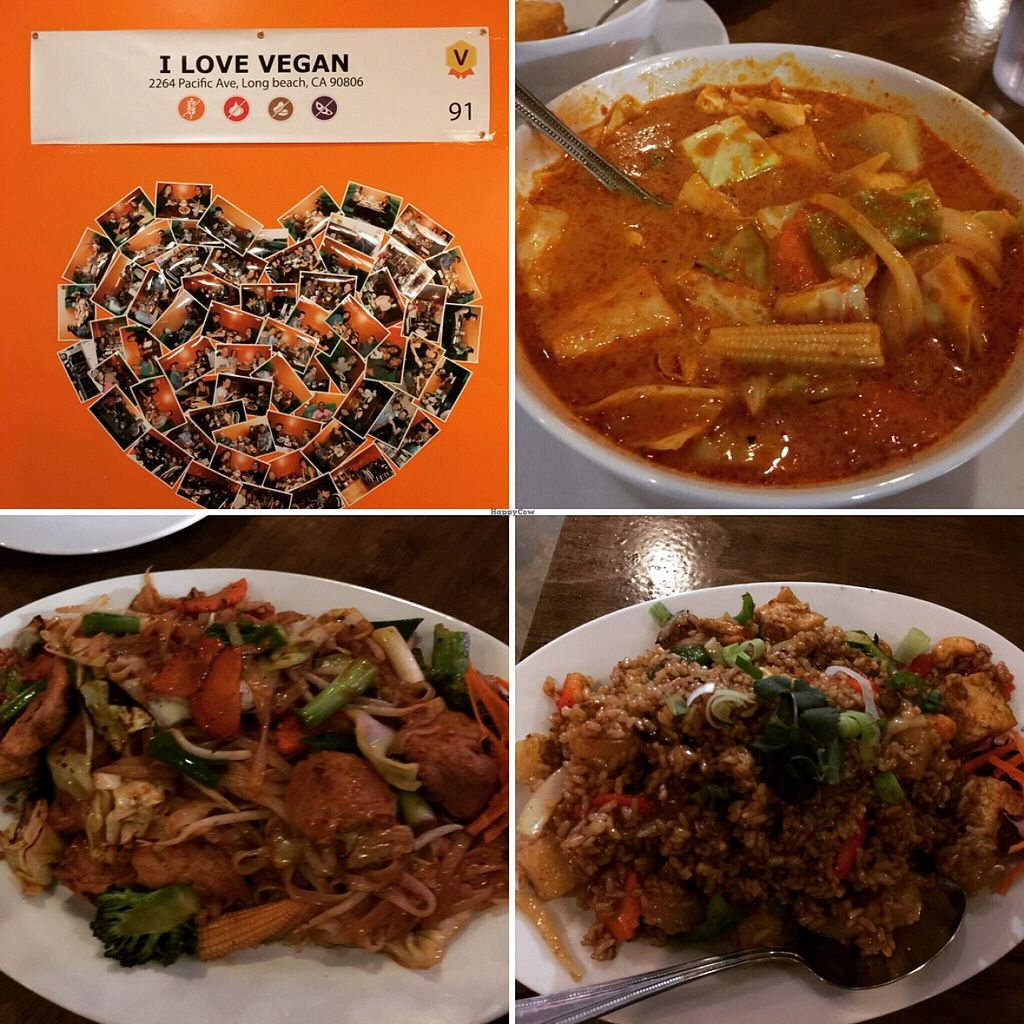 """Photo of I Love Vegan  by <a href=""""/members/profile/VeganG71"""">VeganG71</a> <br/>yellow curry , veggie pad Thai and pineapple fried rice <br/> February 15, 2016  - <a href='/contact/abuse/image/50098/136505'>Report</a>"""