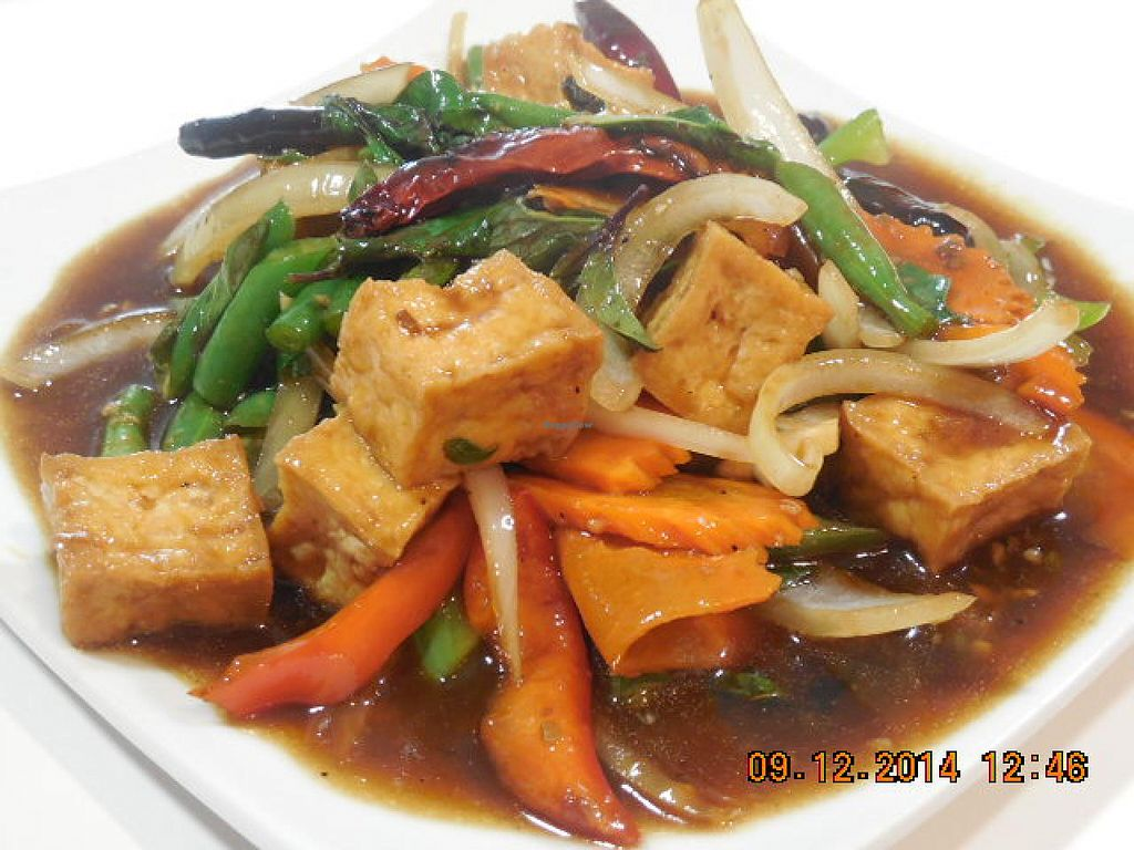 """Photo of I Love Vegan  by <a href=""""/members/profile/iloveveganlongbeach"""">iloveveganlongbeach</a> <br/>Thai Chili and Basil with Tofu <br/> December 11, 2014  - <a href='/contact/abuse/image/50098/87783'>Report</a>"""