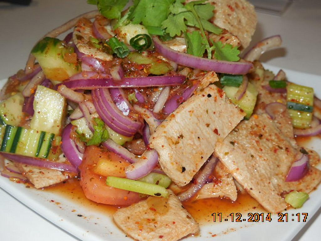"""Photo of I Love Vegan  by <a href=""""/members/profile/iloveveganlongbeach"""">iloveveganlongbeach</a> <br/>Thai Spicy Salad <br/> December 11, 2014  - <a href='/contact/abuse/image/50098/87784'>Report</a>"""