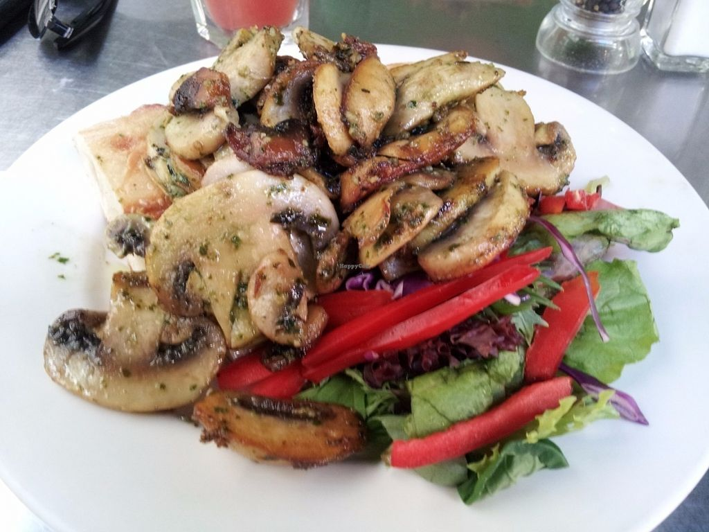 """Photo of Country Road Cafe  by <a href=""""/members/profile/cseneque"""">cseneque</a> <br/>Vegan pesto mushrooms <br/> July 30, 2016  - <a href='/contact/abuse/image/50100/163282'>Report</a>"""