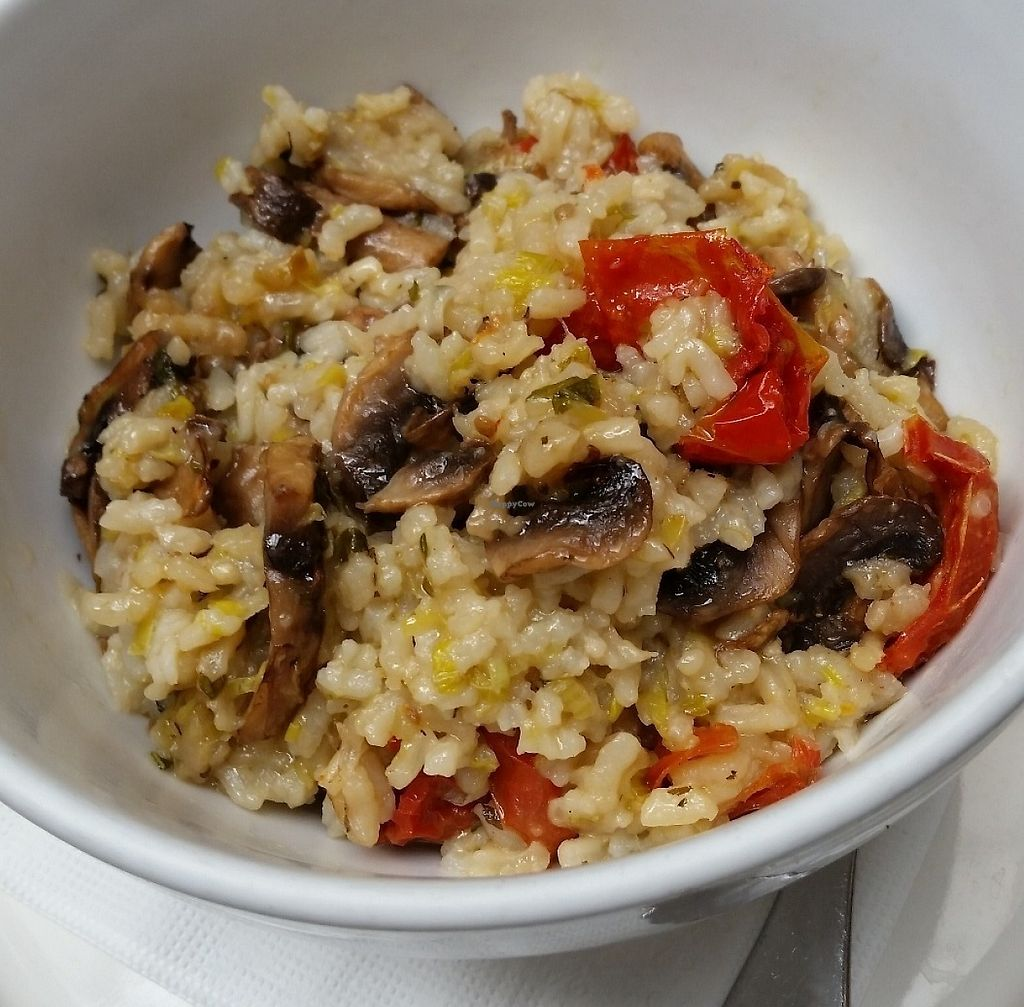 """Photo of Country Road Cafe  by <a href=""""/members/profile/cseneque"""">cseneque</a> <br/>Vegan risotto of the day: mushroom and semi-dried tomato <br/> July 30, 2016  - <a href='/contact/abuse/image/50100/276260'>Report</a>"""
