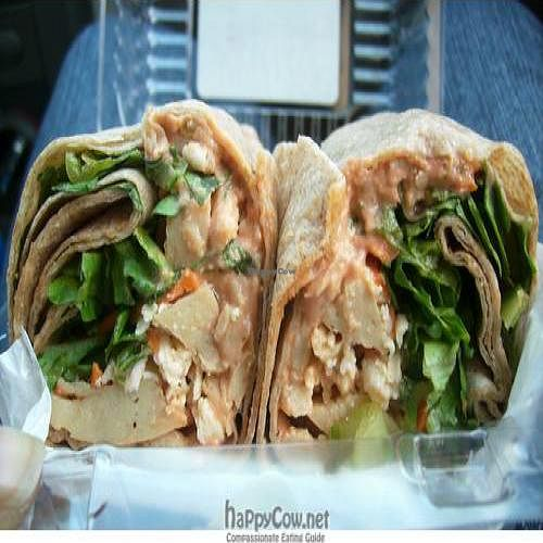 "Photo of Clark's Nutrition  by <a href=""/members/profile/glassesgirl79"">glassesgirl79</a> <br/>Vegan TLC (tequila lime chicken) wrap from Clark's Nutritional Center <br/> November 22, 2010  - <a href='/contact/abuse/image/5010/6362'>Report</a>"