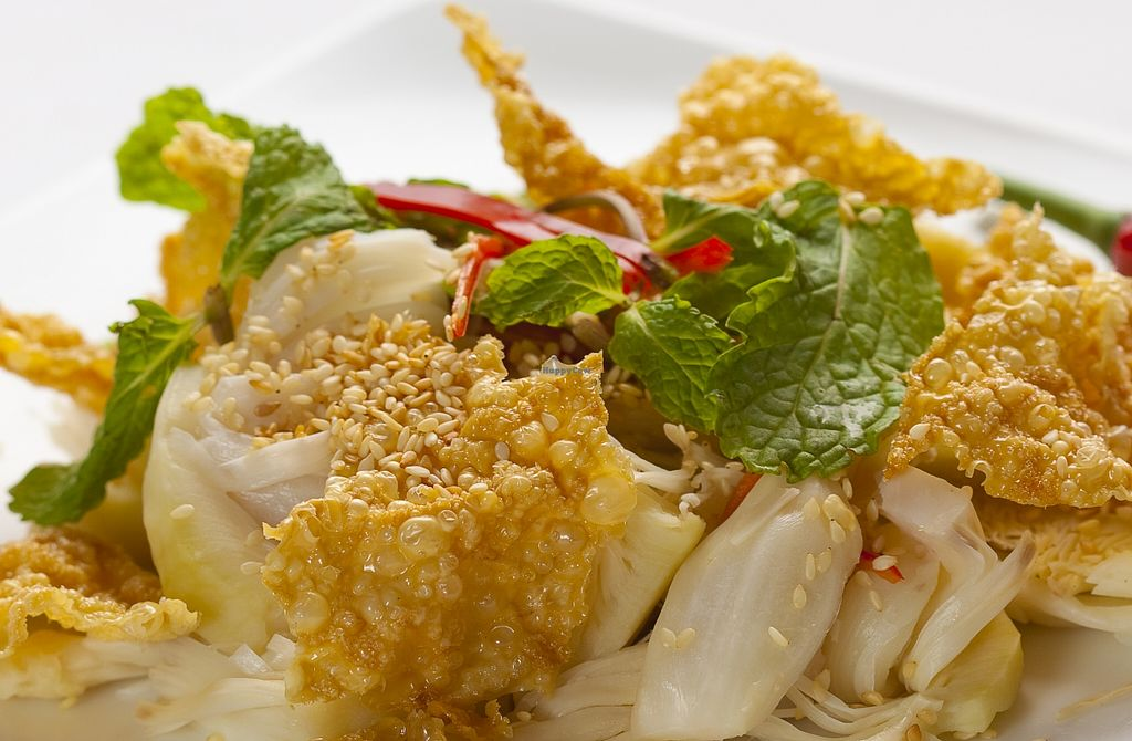 """Photo of San May - Q1  by <a href=""""/members/profile/HuynhHuuDanh"""">HuynhHuuDanh</a> <br/>Hue style jackfruit salad very tasty and served with pancakes too tasty <br/> October 28, 2015  - <a href='/contact/abuse/image/50113/123042'>Report</a>"""