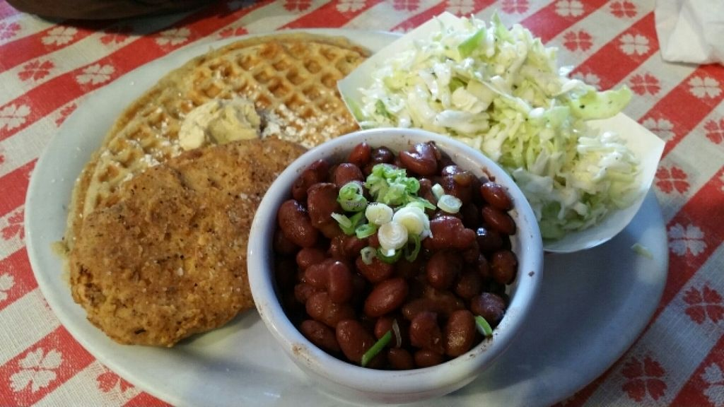 "Photo of Soul Groove  by <a href=""/members/profile/EncinAdia"">EncinAdia</a> <br/>Chicken 'n waffles, jalapeño coleslaw, red beans & rice <br/> June 26, 2016  - <a href='/contact/abuse/image/50127/156145'>Report</a>"
