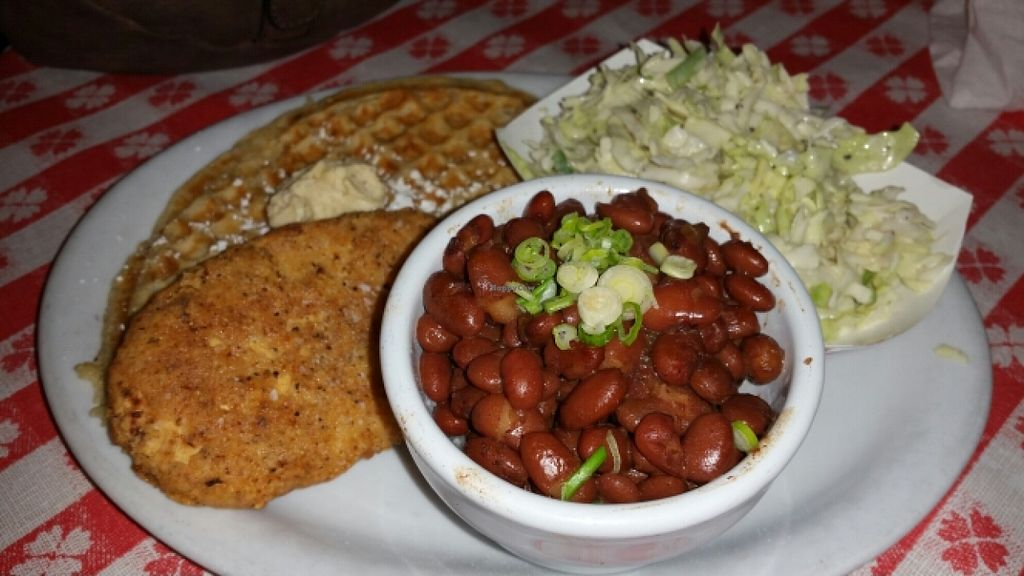 "Photo of Soul Groove  by <a href=""/members/profile/EncinAdia"">EncinAdia</a> <br/>Chicken 'n waffles, jalapeño coleslaw, red beans and rice <br/> June 26, 2016  - <a href='/contact/abuse/image/50127/156146'>Report</a>"
