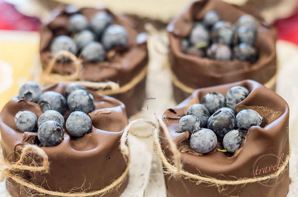 """Photo of CLOSED: Soma Vital Food  by <a href=""""/members/profile/KoLe"""">KoLe</a> <br/>Chocolate 'logs' with wild blueberries and belgian chocolate base <br/> January 24, 2016  - <a href='/contact/abuse/image/50142/133480'>Report</a>"""