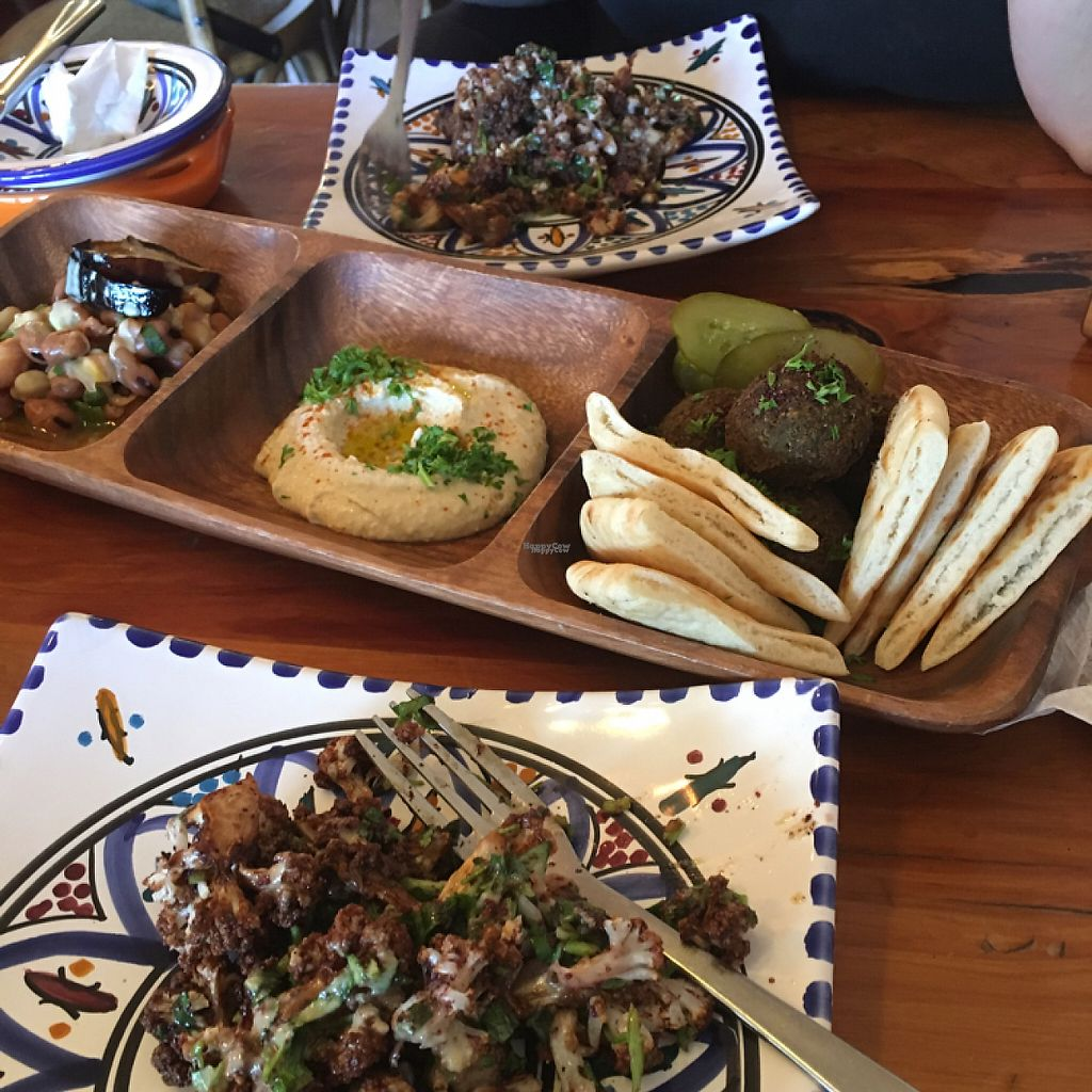 "Photo of Petra Shawarma  by <a href=""/members/profile/Yolanda"">Yolanda</a> <br/>cauliflower salad and felafel, hummus and fava bean salad  <br/> February 11, 2017  - <a href='/contact/abuse/image/50163/225393'>Report</a>"