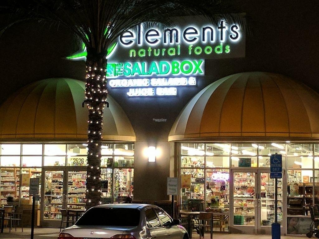 """Photo of Elements Natural Foods and The Salad Box  by <a href=""""/members/profile/gt0taku"""">gt0taku</a> <br/>The outside of the store at night <br/> December 20, 2016  - <a href='/contact/abuse/image/50199/203139'>Report</a>"""