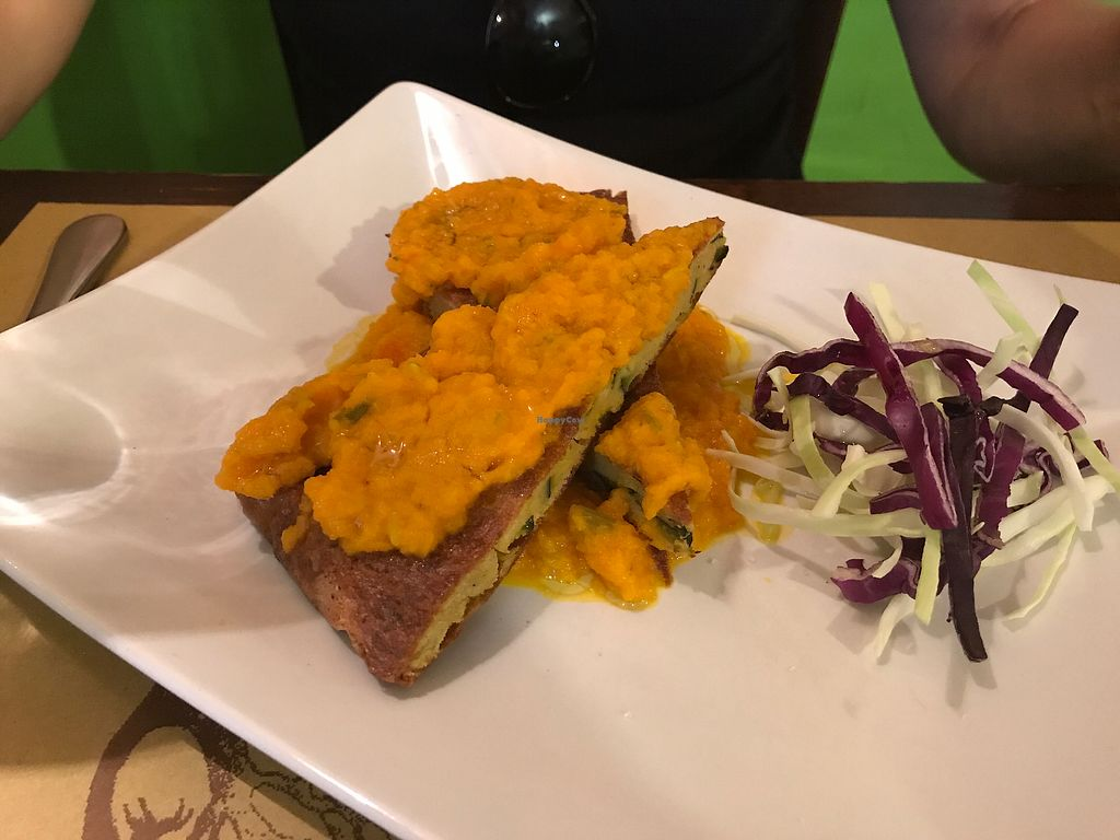 """Photo of Karma Ristorante Vegetariano  by <a href=""""/members/profile/RachelM"""">RachelM</a> <br/>Vegan omelette  <br/> September 21, 2017  - <a href='/contact/abuse/image/50200/306657'>Report</a>"""