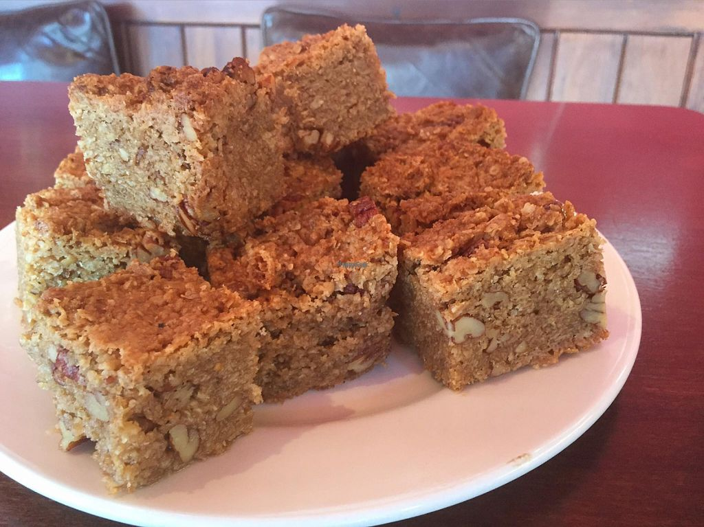 """Photo of Darby's Coffee and Arts Lounge  by <a href=""""/members/profile/Meaks"""">Meaks</a> <br/>Homemade Maple Pecan Flapjacks <br/> August 2, 2016  - <a href='/contact/abuse/image/50210/164517'>Report</a>"""
