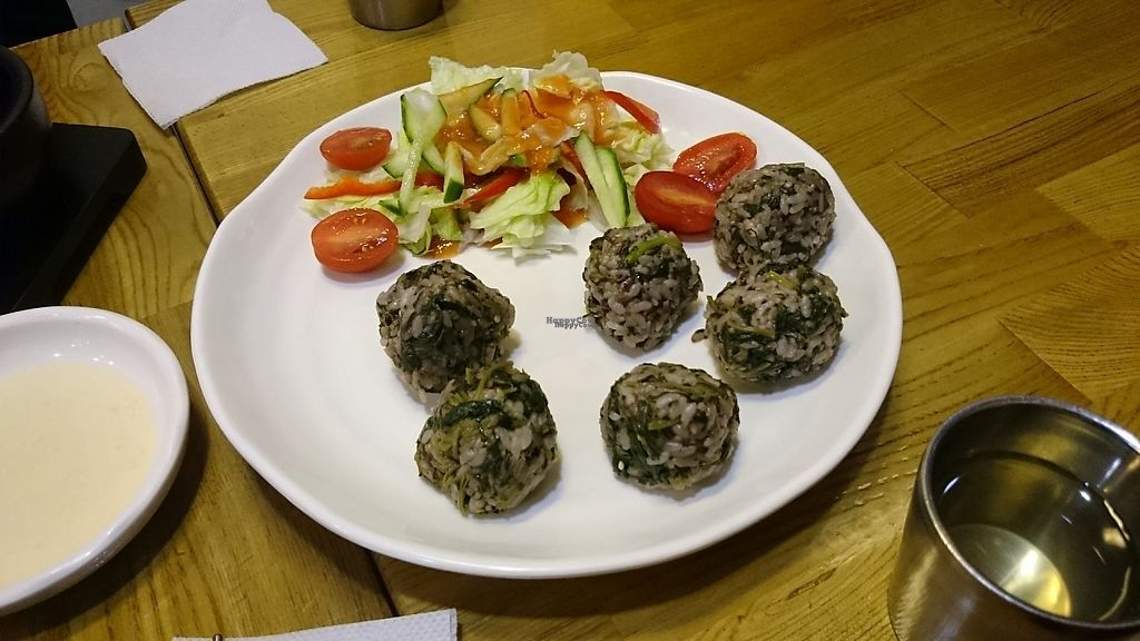 """Photo of CLOSED: Babione - 바비오네  by <a href=""""/members/profile/PeterSong"""">PeterSong</a> <br/>Small rice balls with wild vegetables! <br/> November 18, 2016  - <a href='/contact/abuse/image/50225/191596'>Report</a>"""