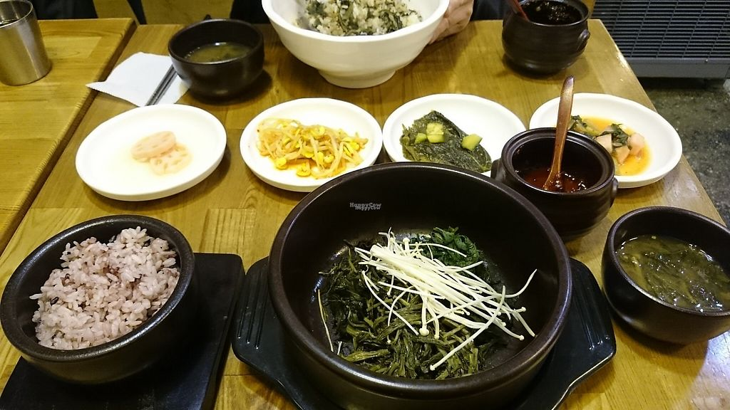 """Photo of CLOSED: Babione - 바비오네  by <a href=""""/members/profile/PeterSong"""">PeterSong</a> <br/>A bowl of rice with thistle and a bowl of vegetable bibimbap from a different angle! <br/> November 18, 2016  - <a href='/contact/abuse/image/50225/191597'>Report</a>"""
