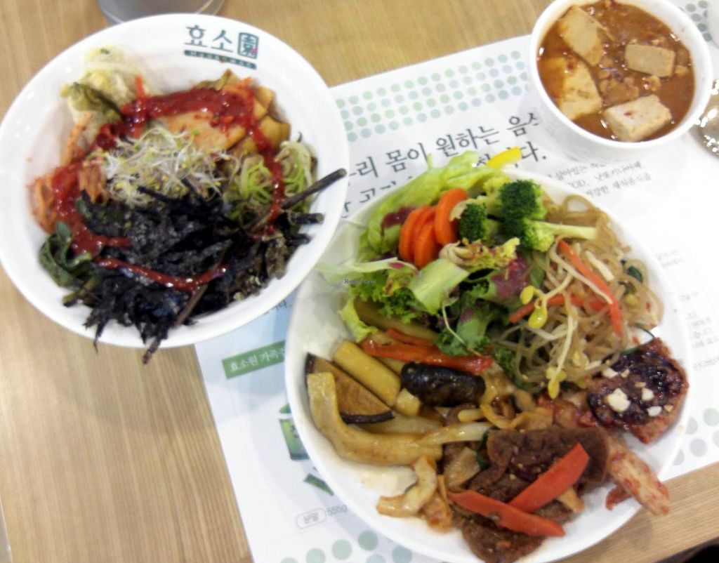 """Photo of CLOSED: Hyosowon  by <a href=""""/members/profile/Gally"""">Gally</a> <br/>Made my own bibimbap, had a small bowl of doenjangjjigae (so amazing but traditionally made with fish), and piled a plate with other salad and meat substitute items <br/> July 19, 2015  - <a href='/contact/abuse/image/50227/109994'>Report</a>"""