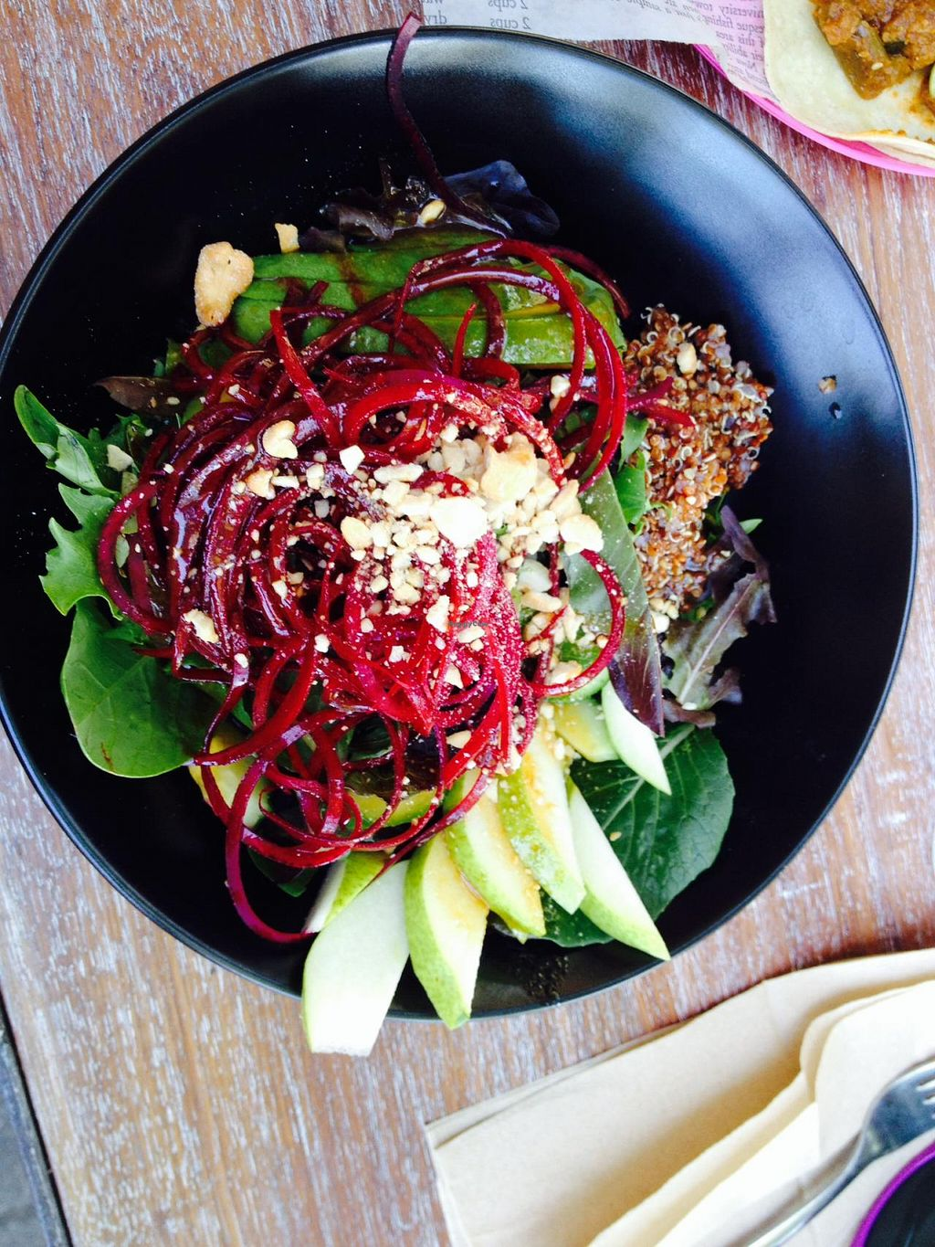 """Photo of La Cantina  by <a href=""""/members/profile/Hayley143"""">Hayley143</a> <br/>Vegan salad with sesame ginger dressing.  <br/> August 11, 2014  - <a href='/contact/abuse/image/50239/76718'>Report</a>"""