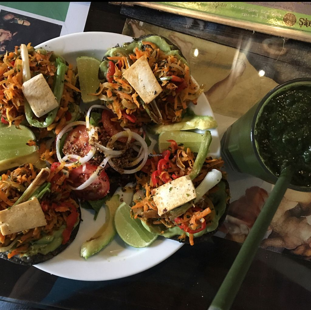 "Photo of Samsara  by <a href=""/members/profile/AliciaMary"">AliciaMary</a> <br/>tofu tacos and the green beast smoothie <br/> August 3, 2016  - <a href='/contact/abuse/image/50241/275046'>Report</a>"