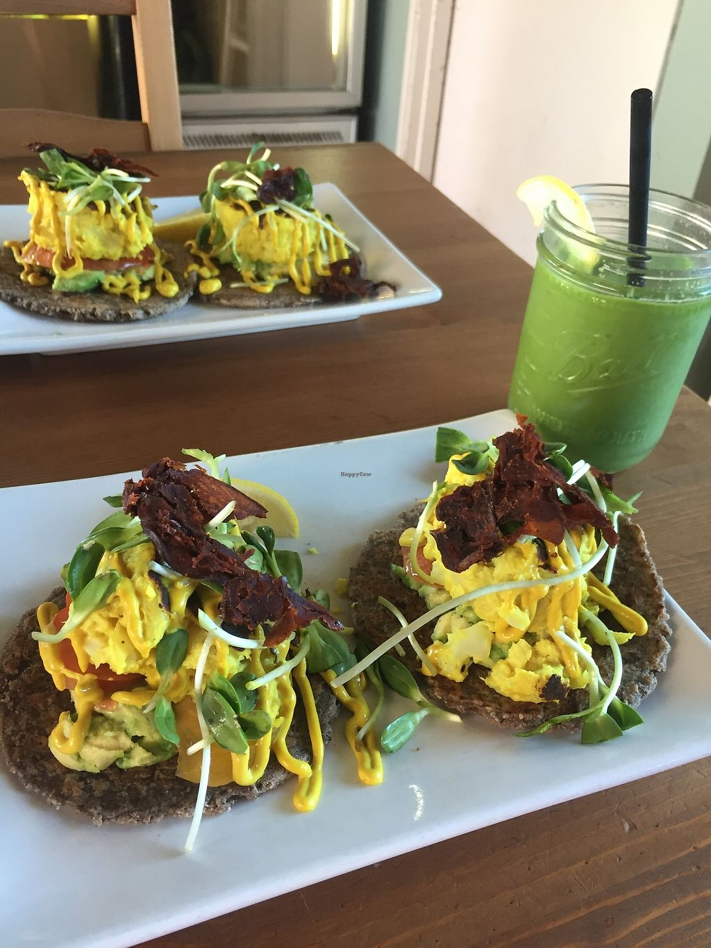 """Photo of Trilogy Sanctuary  by <a href=""""/members/profile/KaitlynnGill"""">KaitlynnGill</a> <br/>Eggz Benedict with Nature smoothie <br/> October 9, 2017  - <a href='/contact/abuse/image/50264/313627'>Report</a>"""