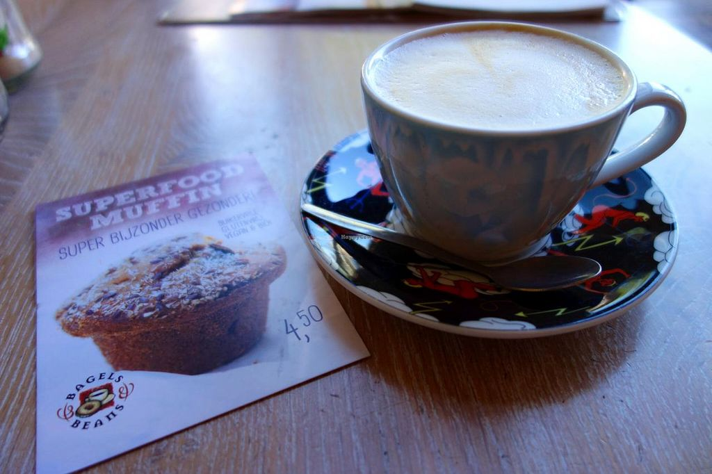 "Photo of Bagels & Beans - Plaats  by <a href=""/members/profile/Gudrun"">Gudrun</a> <br/>soya cappuccino <br/> September 1, 2014  - <a href='/contact/abuse/image/50266/78844'>Report</a>"