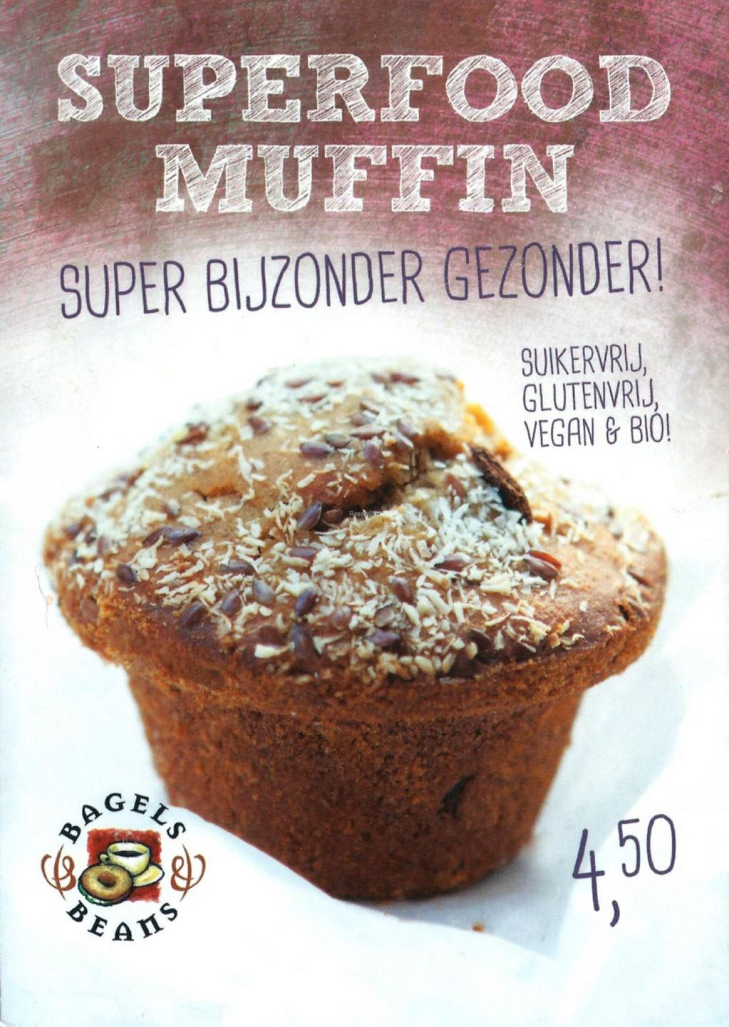 "Photo of Bagels & Beans - Plaats  by <a href=""/members/profile/Gudrun"">Gudrun</a> <br/>vegan superfood muffin <br/> September 1, 2014  - <a href='/contact/abuse/image/50266/78845'>Report</a>"