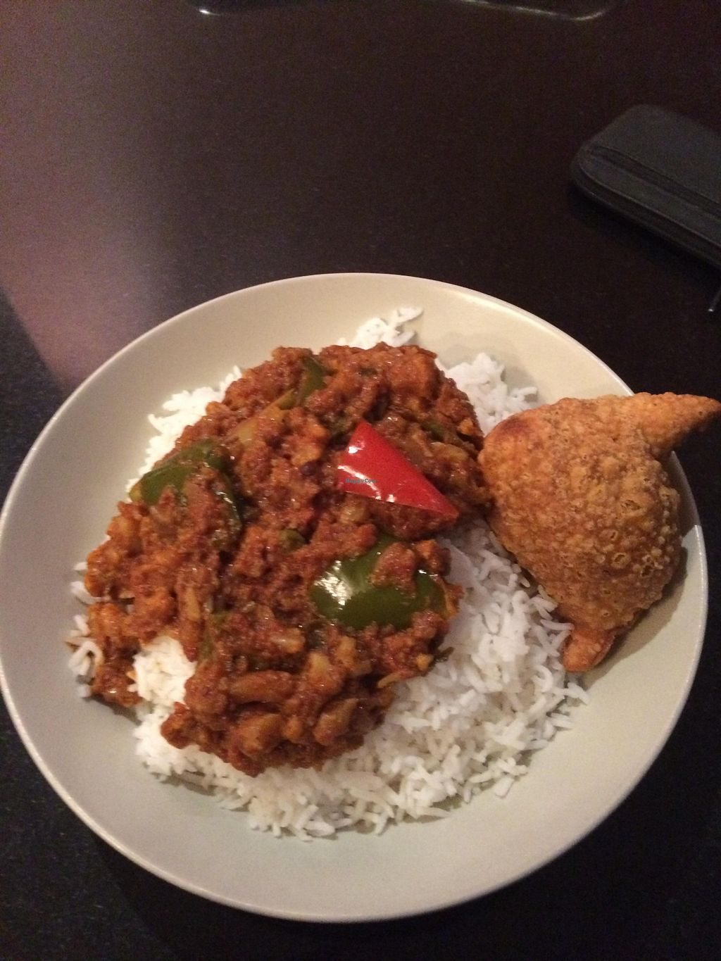 """Photo of Nirvana Cafe  by <a href=""""/members/profile/vegrace"""">vegrace</a> <br/>vegan curry <br/> July 28, 2015  - <a href='/contact/abuse/image/50299/111417'>Report</a>"""