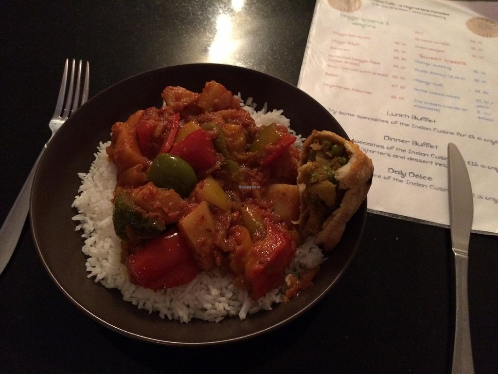 """Photo of Nirvana Cafe  by <a href=""""/members/profile/vegrace"""">vegrace</a> <br/>Vegetable curry <br/> July 29, 2015  - <a href='/contact/abuse/image/50299/111434'>Report</a>"""