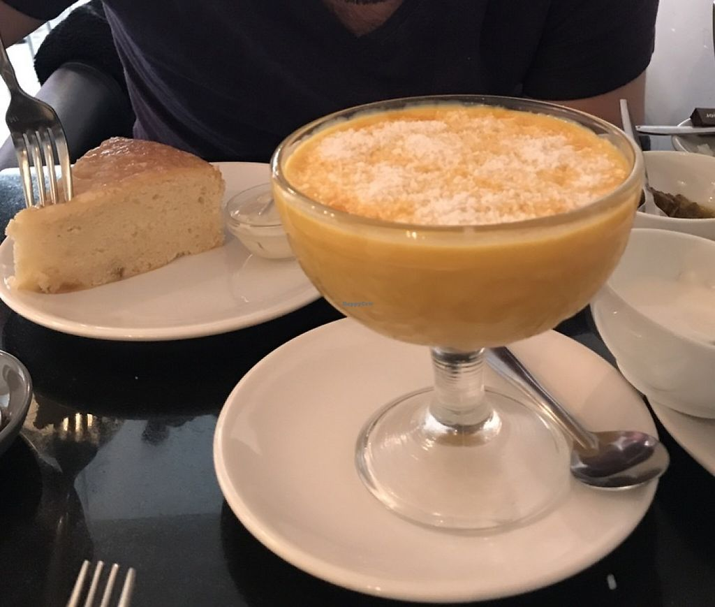 """Photo of Nirvana Cafe  by <a href=""""/members/profile/ClariFerrari"""">ClariFerrari</a> <br/>Lemon cake and huge amount of mango pudding!! <br/> May 4, 2017  - <a href='/contact/abuse/image/50299/255616'>Report</a>"""
