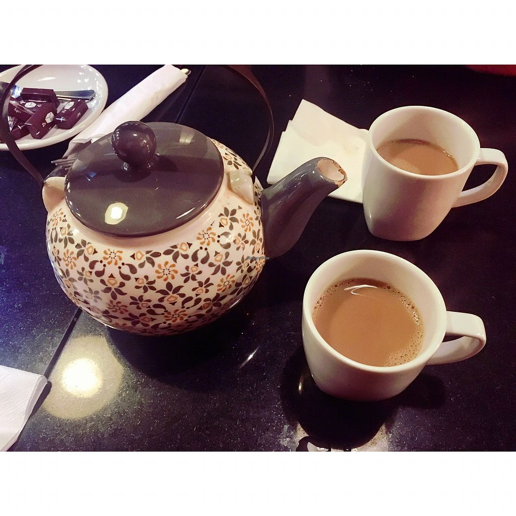 """Photo of Nirvana Cafe  by <a href=""""/members/profile/Hannahg"""">Hannahg</a> <br/>Pot of chai tea <br/> October 28, 2017  - <a href='/contact/abuse/image/50299/319459'>Report</a>"""