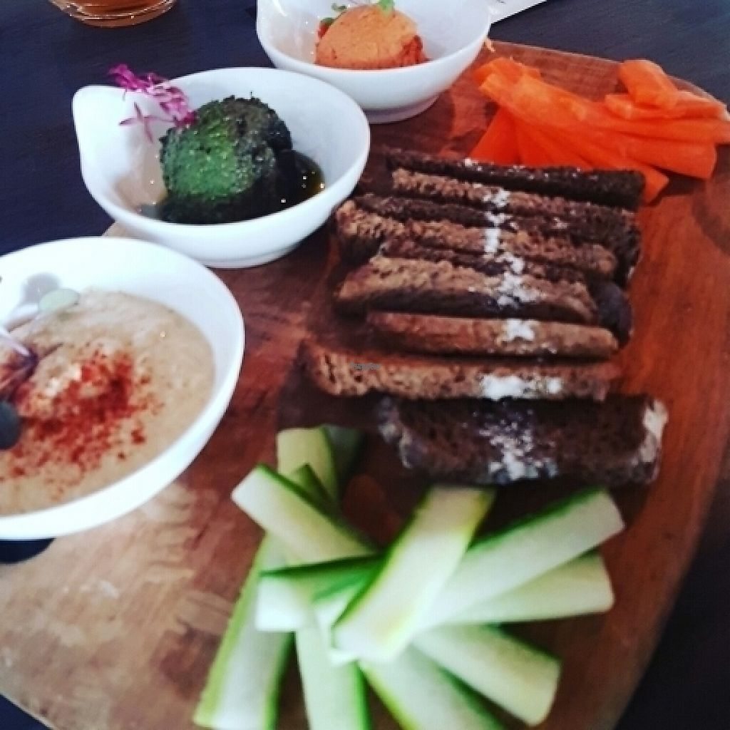 "Photo of Lafew Teahouse and Kombucha Bar   by <a href=""/members/profile/Catwentvegan"">Catwentvegan</a> <br/>Trio of vegan dips  <br/> March 19, 2017  - <a href='/contact/abuse/image/50302/238189'>Report</a>"