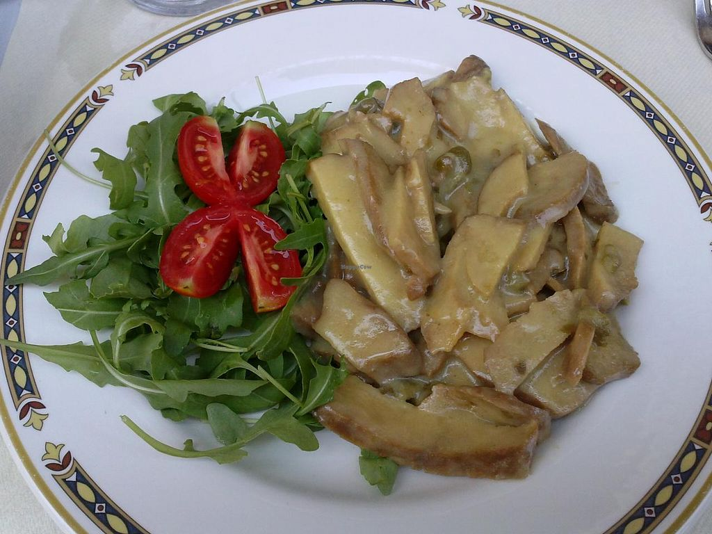 """Photo of Bio Sound System  by <a href=""""/members/profile/Sonja%20and%20Dirk"""">Sonja and Dirk</a> <br/>seitan with lemon caper sauce <br/> July 14, 2015  - <a href='/contact/abuse/image/50371/109373'>Report</a>"""