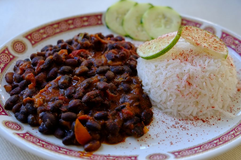 """Photo of Bio Sound System  by <a href=""""/members/profile/badvegancook"""">badvegancook</a> <br/>black beans in a chilli sauce with basmati rice <br/> October 26, 2015  - <a href='/contact/abuse/image/50371/122742'>Report</a>"""