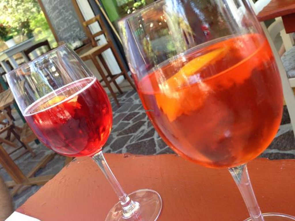 """Photo of Bio Sound System  by <a href=""""/members/profile/efetcho"""">efetcho</a> <br/>Wine, beer, and cocktails available (pictured: Campari spritz and Aperol spritz) <br/> August 14, 2014  - <a href='/contact/abuse/image/50371/76979'>Report</a>"""