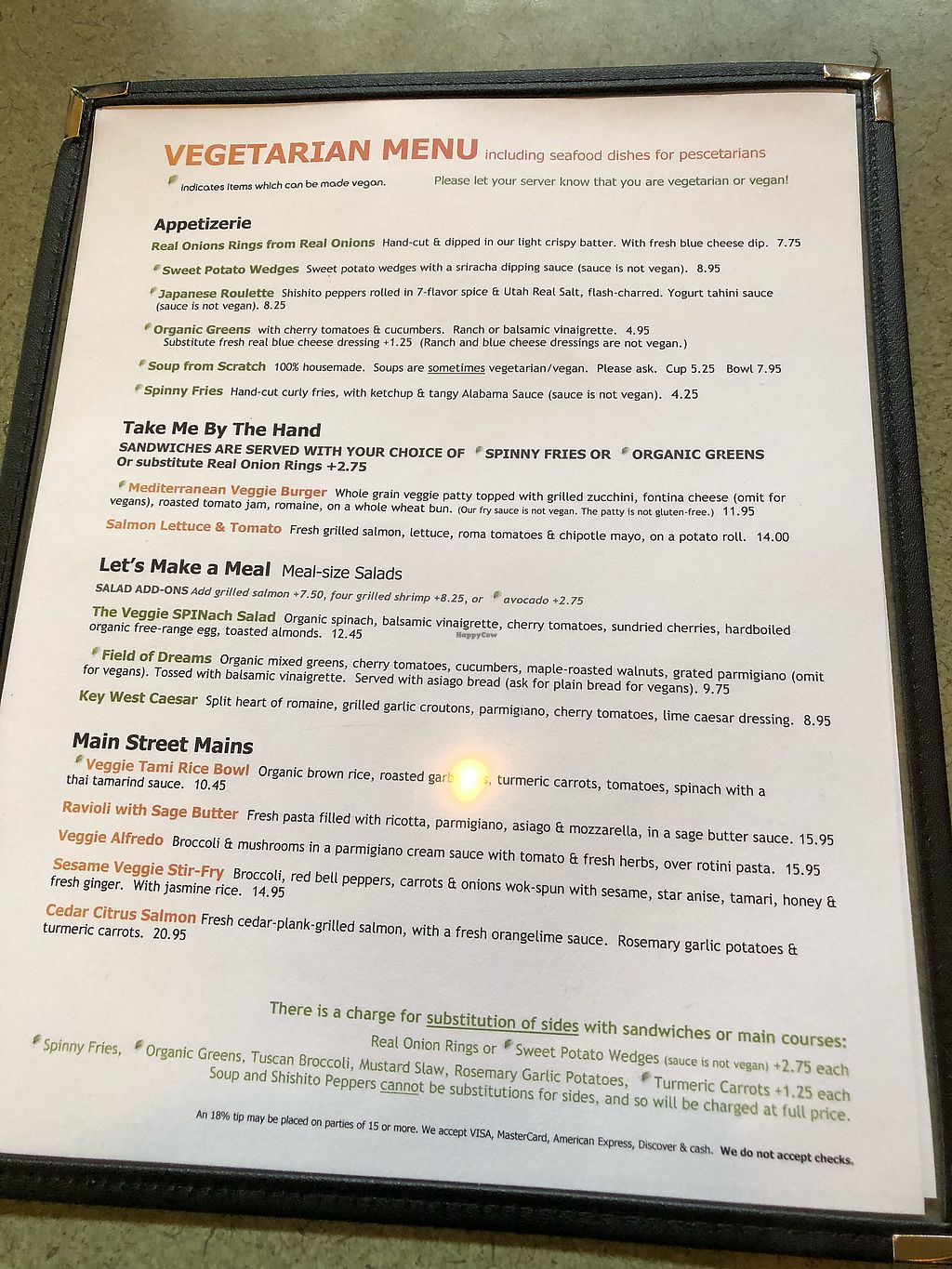 """Photo of Spin Cafe  by <a href=""""/members/profile/Levi"""">Levi</a> <br/>Vegetarian menu <br/> November 26, 2017  - <a href='/contact/abuse/image/50410/329461'>Report</a>"""