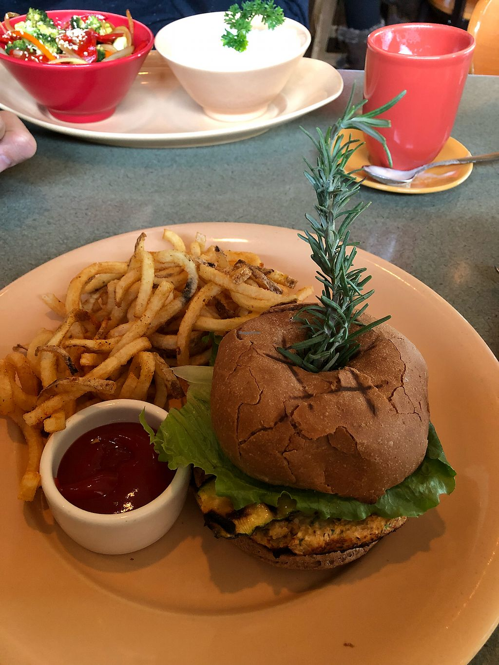 """Photo of Spin Cafe  by <a href=""""/members/profile/Levi"""">Levi</a> <br/>Veggie Burger <br/> November 27, 2017  - <a href='/contact/abuse/image/50410/329776'>Report</a>"""