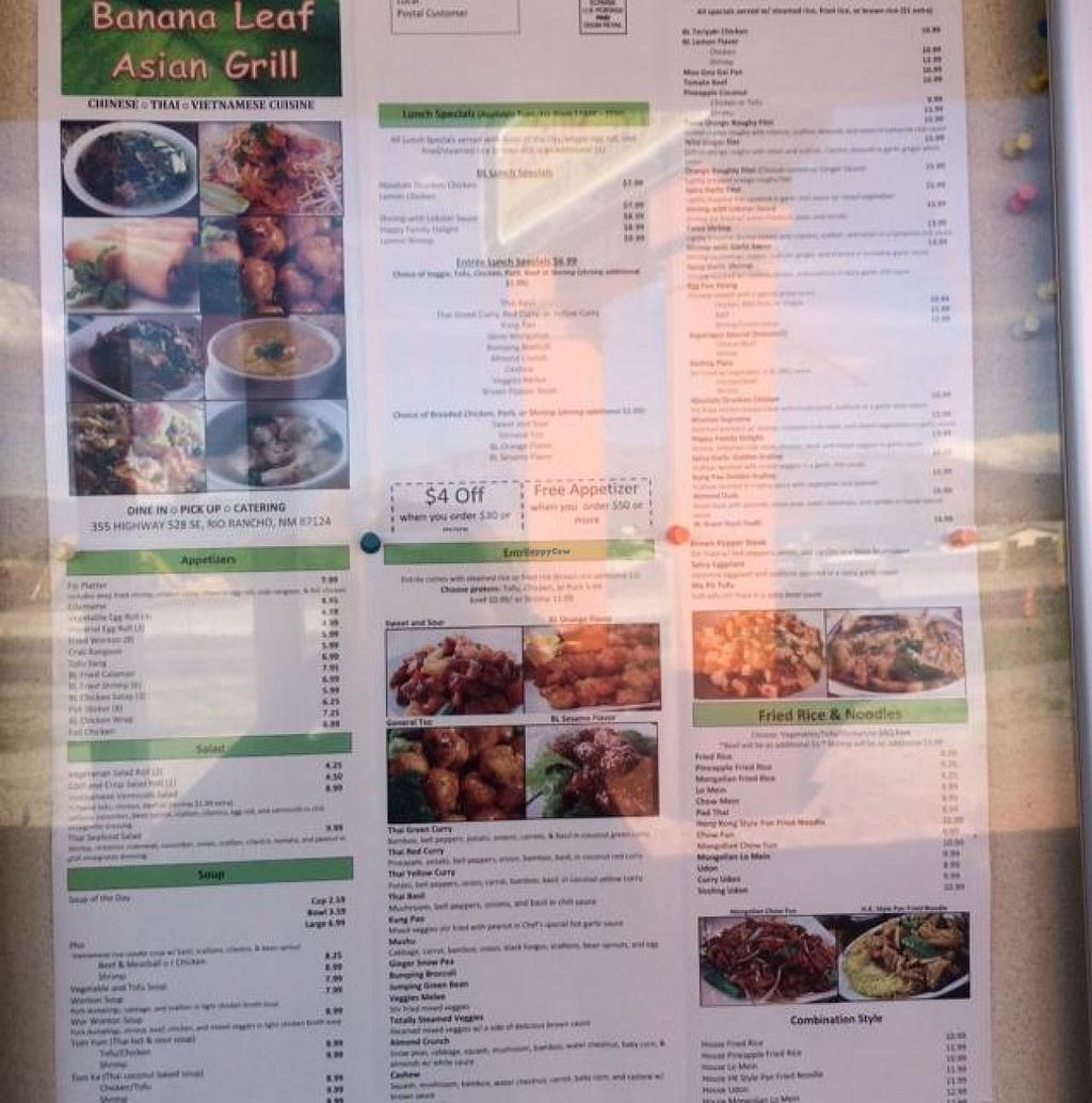 """Photo of Banana Leaf  by <a href=""""/members/profile/Evolving"""">Evolving</a> <br/>outside menu <br/> August 22, 2014  - <a href='/contact/abuse/image/50412/77869'>Report</a>"""