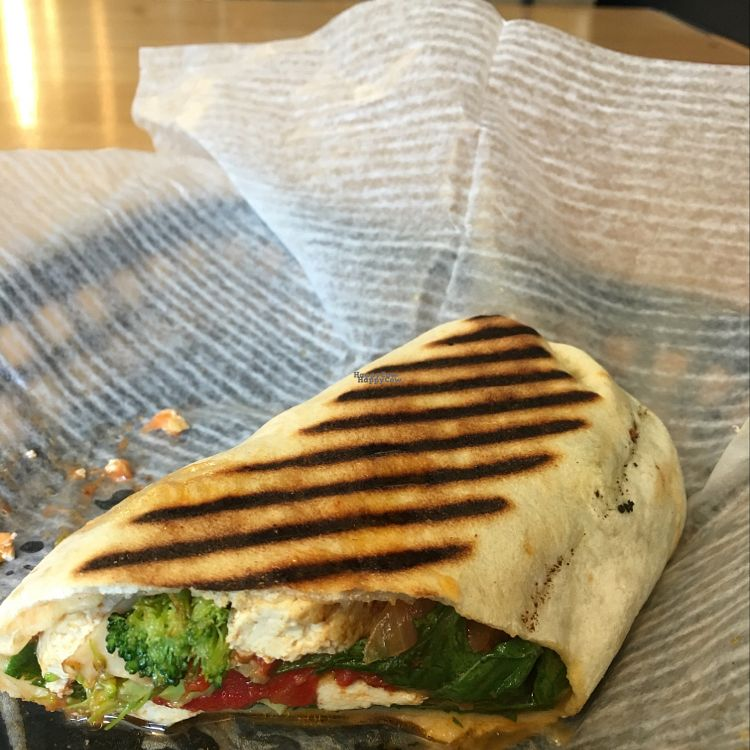 "Photo of Green Goddess Cafe  by <a href=""/members/profile/NathanOriol"">NathanOriol</a> <br/>1/2 of the Garden Tofu Wrap <br/> September 5, 2016  - <a href='/contact/abuse/image/50418/173754'>Report</a>"