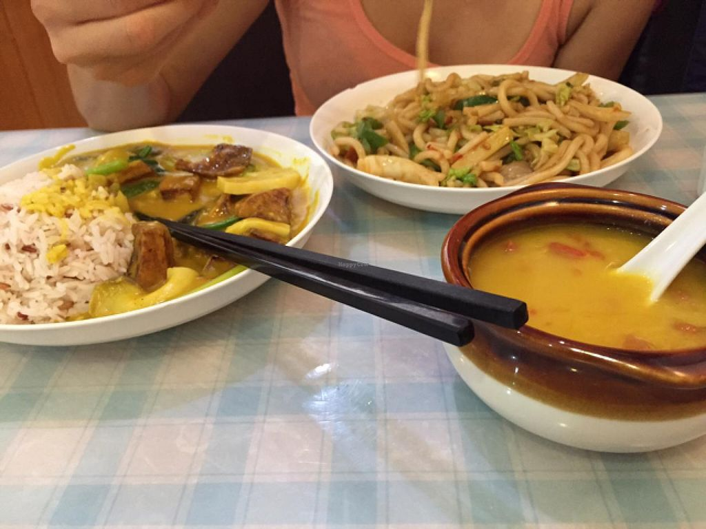 """Photo of CLOSED: Popular Vegetarian  by <a href=""""/members/profile/Dunja"""">Dunja</a> <br/>lunch for 120 HKD <br/> May 3, 2015  - <a href='/contact/abuse/image/50419/101136'>Report</a>"""