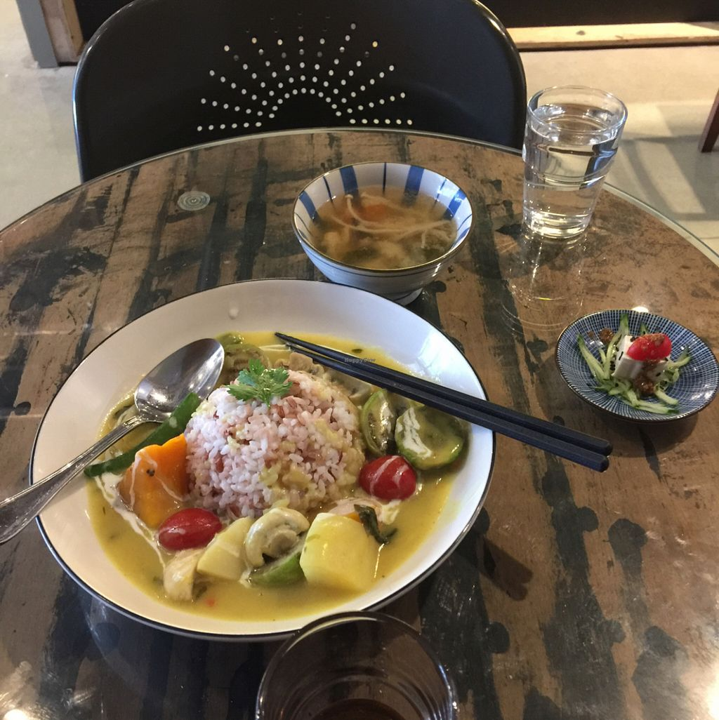 "Photo of MUM Veggie Cafe  by <a href=""/members/profile/BeautifulFood"">BeautifulFood</a> <br/>green curry lunch set  <br/> July 21, 2016  - <a href='/contact/abuse/image/50422/161273'>Report</a>"