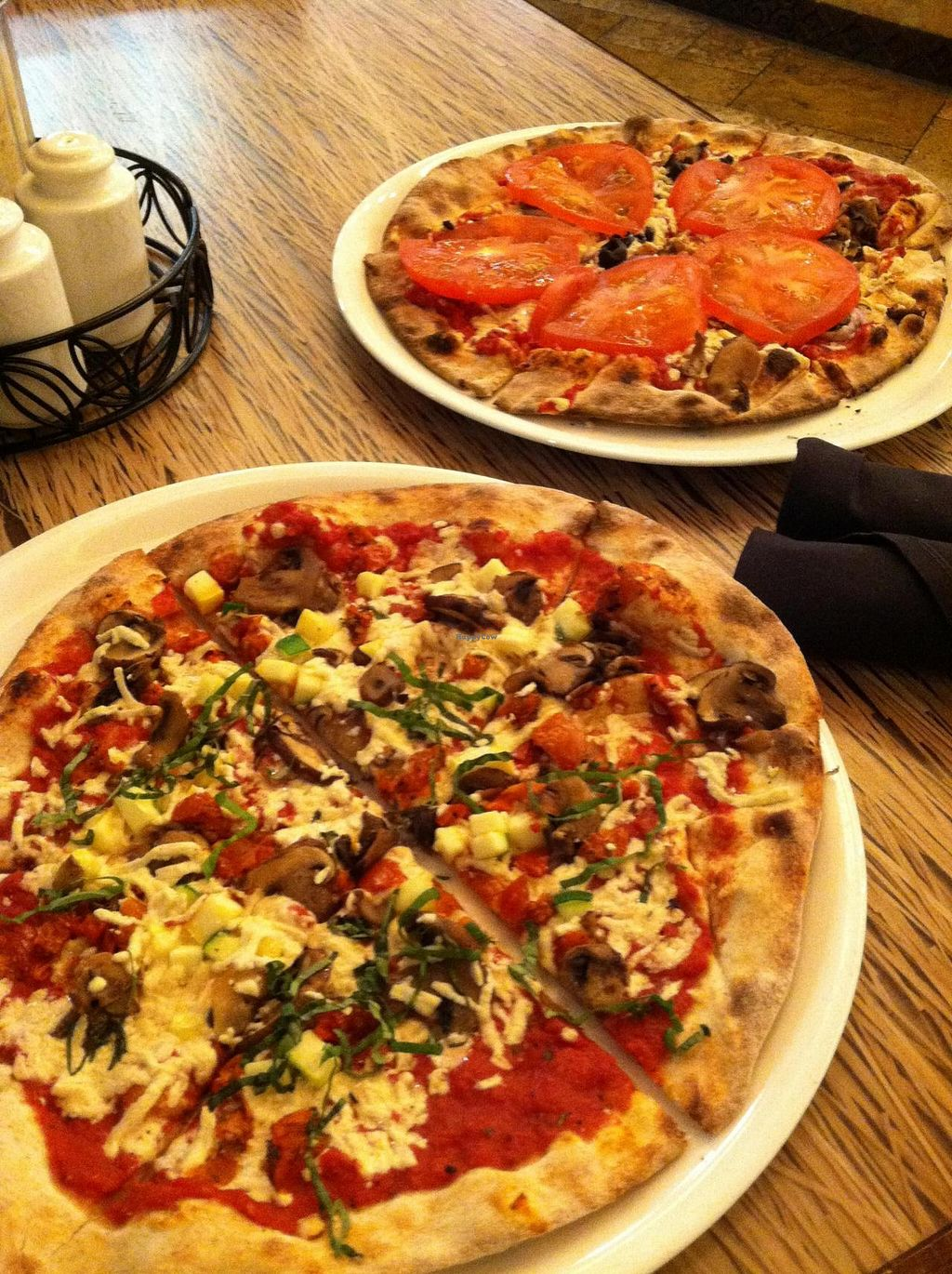 """Photo of Malawi's Pizza  by <a href=""""/members/profile/Meggie%20and%20Ben"""">Meggie and Ben</a> <br/>Vegan pizzas <br/> August 22, 2014  - <a href='/contact/abuse/image/50449/77898'>Report</a>"""