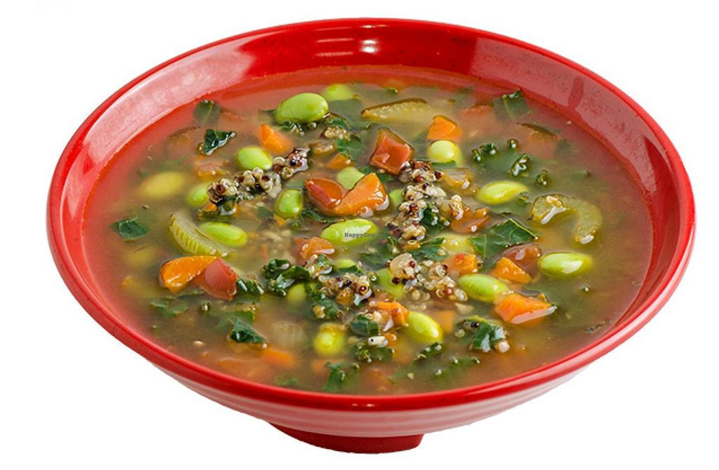 """Photo of Cafe Zupas  by <a href=""""/members/profile/Meggie%20and%20Ben"""">Meggie and Ben</a> <br/>Vegan vegetable quinoa soup <br/> January 27, 2015  - <a href='/contact/abuse/image/50457/91499'>Report</a>"""