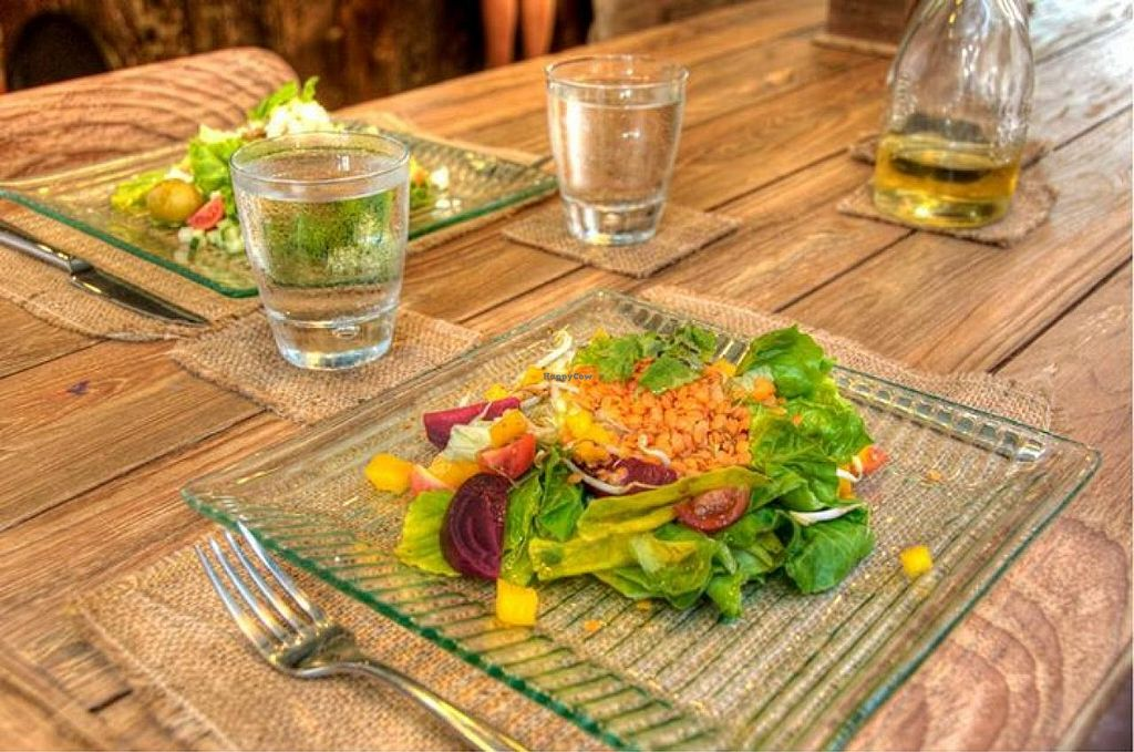 """Photo of Kayu Cafe  by <a href=""""/members/profile/community"""">community</a> <br/>Red lentil salad with cucumber vinaigrette <br/> September 14, 2014  - <a href='/contact/abuse/image/50478/79930'>Report</a>"""